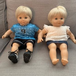 Retired American girl doll boy and girl twins